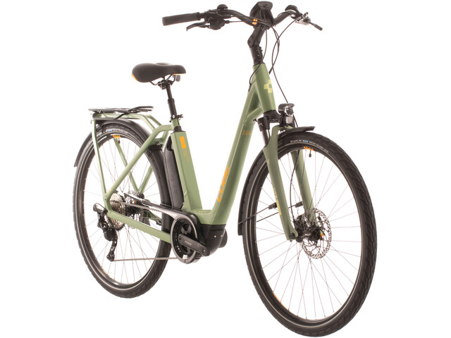 Cube Town Sport Hybrid Pro 400 Easy Entry, green/orange